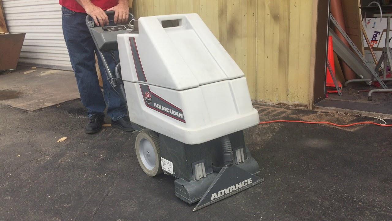 Advance Aquaclean 15 Hd Carpet Extractor Youtube