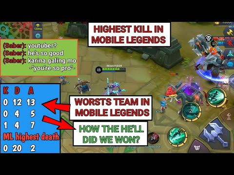 HIGHEST KILL, HIGHEST DEATH AND WORSTS TEAM IN MOBILE LEGENDS   HOW THE HE'LL DID WE WON?