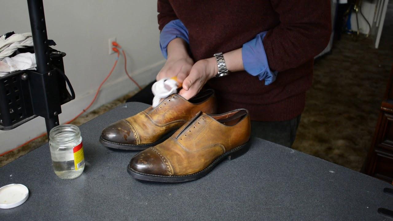 Discolored Allen Edmonds Fifth Avenue Dress Shoes Clean Up And Color