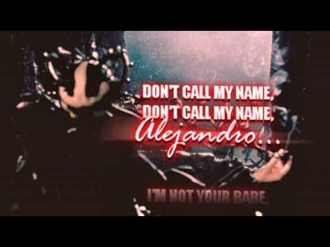 Lady Gaga - Alejandro (Karaoke/Instrumental)
