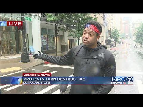 VIDEO: KIRO 7 Hears From Protester Amid Chaos In Downtown Seattle