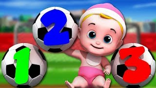 Numbers Soccer Song | Junior Squad Nursery Rhymes For Kids