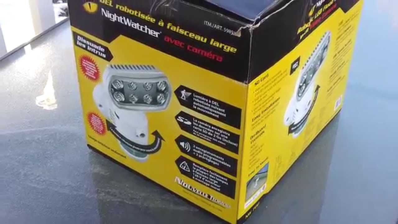 Nighcher Nw700 Robotic Led Flood Light With Camera