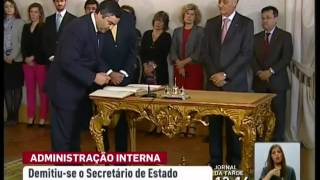 Secretário de Estado adjunto da Administração Interna demite se