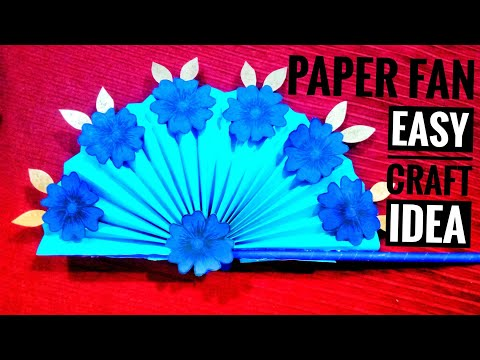 DIY Paper craft | How to make diy hand fan out of colour paper | Paper fan | Miss Tiara