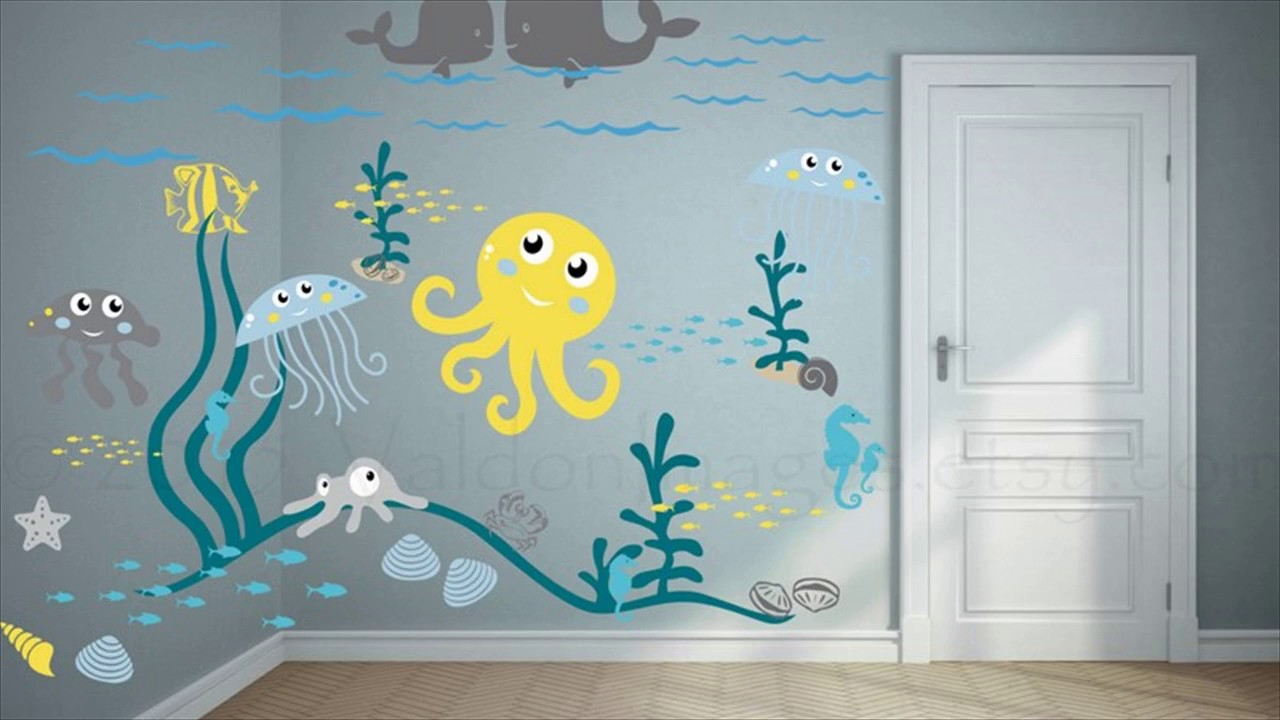 Childrens rooms decorating with wall stickers youtube amipublicfo Choice Image