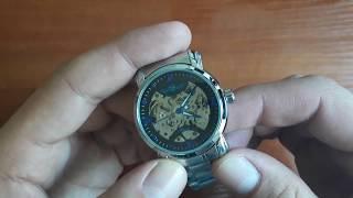 Обзор и настройка. Механические часы Winner Steel Blue с автоподзаводом