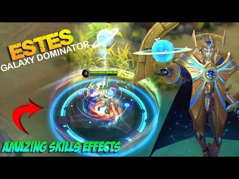 ESTES GALAXY DOMINATOR SKIN GAMEPLAY | Amazing Skills Effects - Mobile Legends Patch 2.10