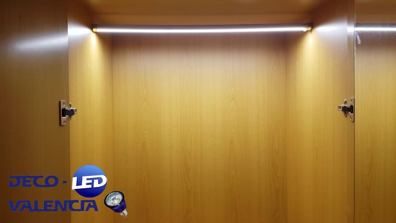 Perfil tira led para armario youtube - Iluminacion interior armarios ...
