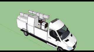 VW Camper Van Design in Sketchup  - Crafter Explorer