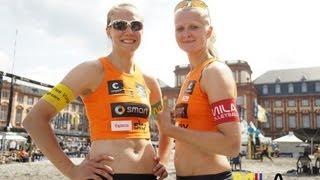 Beachvolleyball Team Jenny Heinemann und Pia Riedel. 28-30.6.13 Smart Beach Tour Mannheim