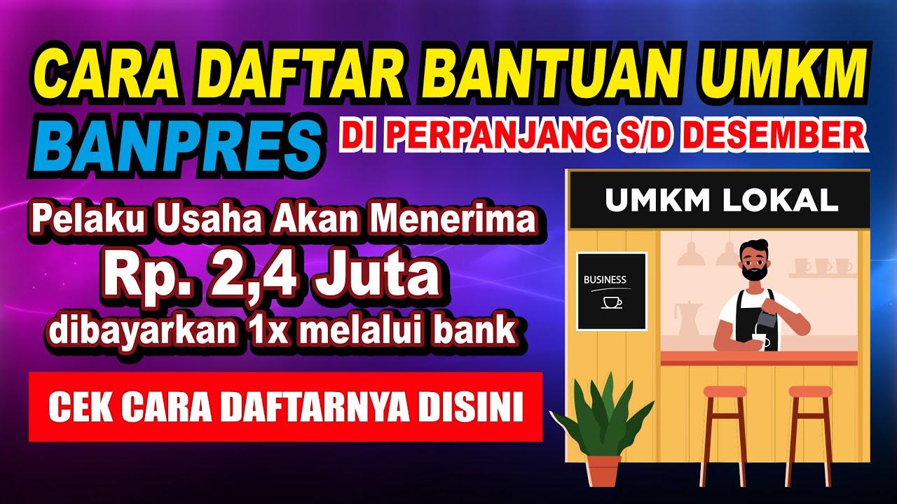 CARA DAFTAR BANTUAN UMKM 2020 ONLINE - YouTube