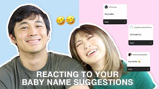 YAY or NAY: Reacting to your Baby Name suggestions (SO FUNNY!) | Kryz Uy