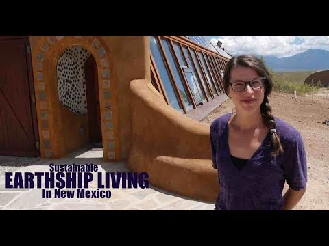 Earthship Underground House Tour- Sustainable and Net Zero Living...