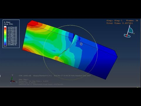 Cantilever Beam Simulation Tutorial With Crack Propagation Using Xfem Method