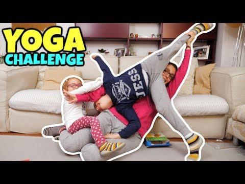 YOGA CHALLENGE Famiglia GBR con lo Yoga Spinner Game