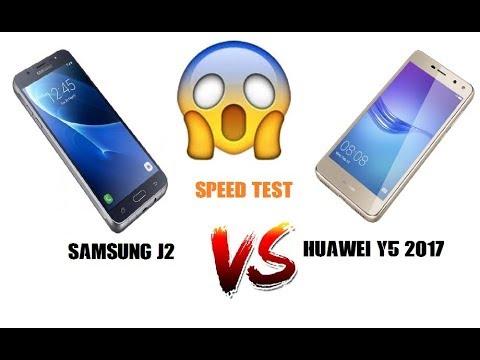Smarthphone Speed Test Huawei Y5 Vs Samsung J2