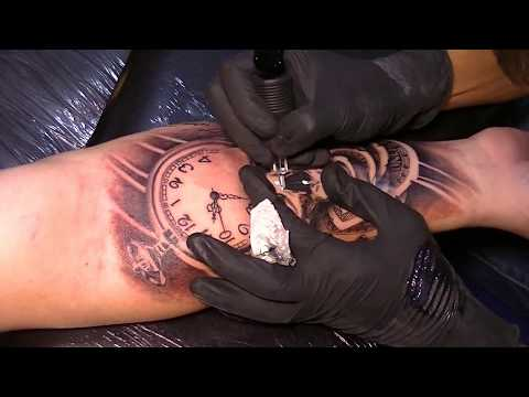 Skull - Tattoo time lapse