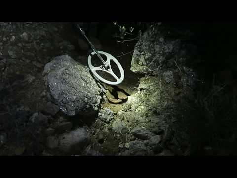 Minelab GP3000 Metal Detecting at Night Gold Prospecting