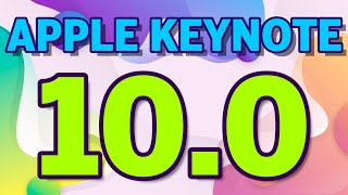 NEU IN KEYNOTE VERSION 10.0 vom 31.03.2020