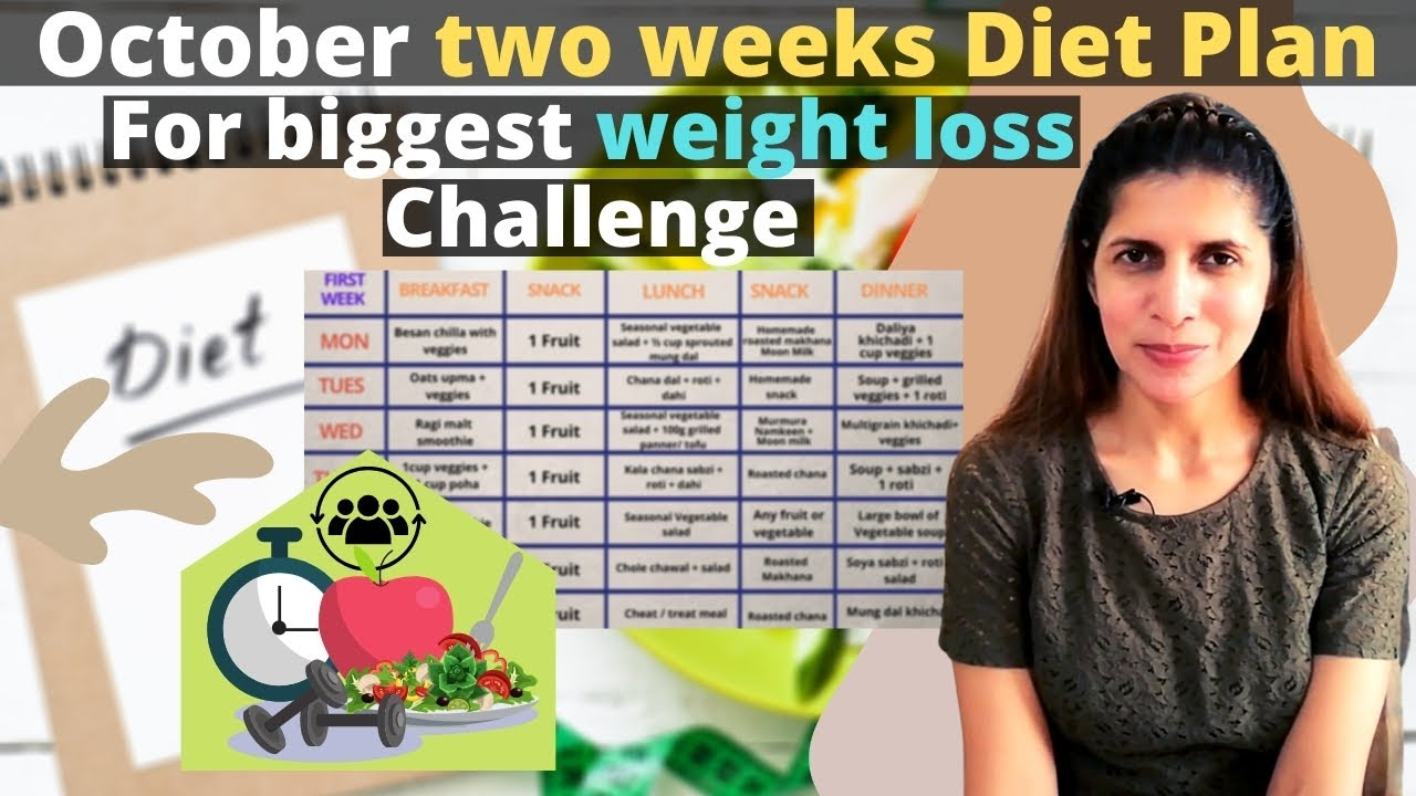 Weight Loss Diet / Meal Plan | Two Weeks Diet for October Challenge | Lose Upto 10 kg Successfully