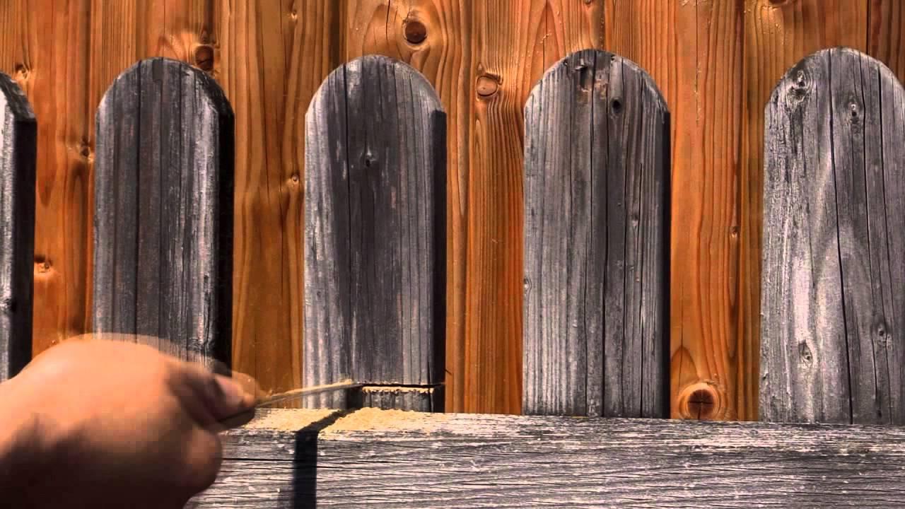 SCHEERER Holzpflege bei Sichtschutzzäunen einfach ist am