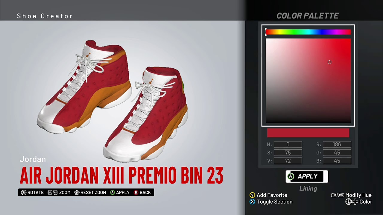 83dc07d2d93675 NBA 2K19 Shoe Creator - Air Jordan 13