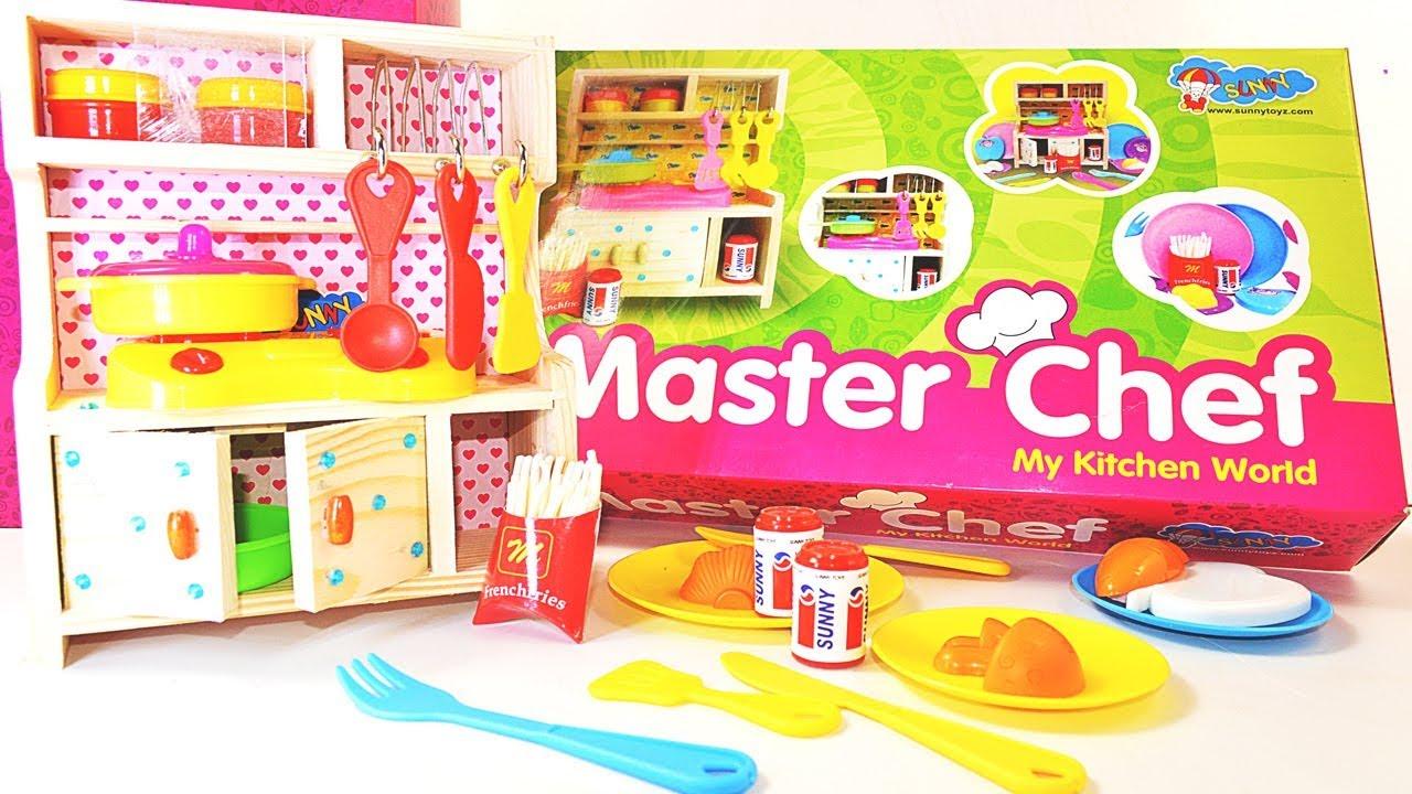 Big Kitchen Toy Set For Girls Master Chef My Kitchen World Toys For Kids Youtube
