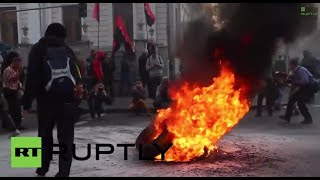 Ukraine: Fires erupt outside Rada as Right Sector violence escalates