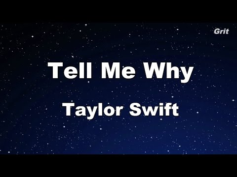 Tell Me Why - Taylor Swift Karaoke【With Guide Melody】