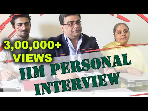 IIM Lucknow Personal Interview  Round - ft. Manoj Jaiswal - MBA Interview - Real Life