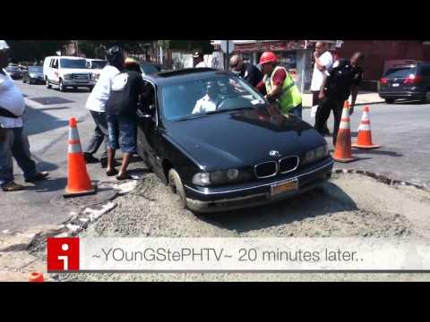 BMW Get Stuck In Cement.!!