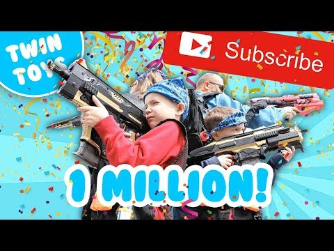 [Nerf Battle]  1 MILLION SUBSCRIBERS!!!