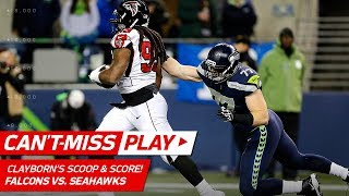Adrian Clayborn's Scoop & Score Off Russell Wilson's Fumble! | Can't-Miss Play | NFL Wk 11