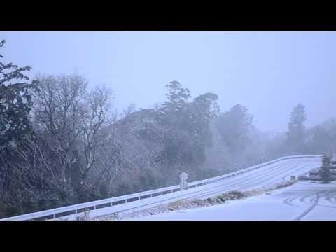 Feb 8, 2014 Blizzard in Numazu, Shizuoka Prefecture