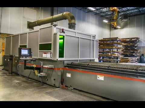 NJ Sullivan's New Cincinnati 900 Series Fiber Laser Cutting system - Sterling Virginia