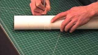 Cut a tube with strip of paper