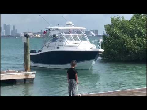 Boat Docking Twin Engine