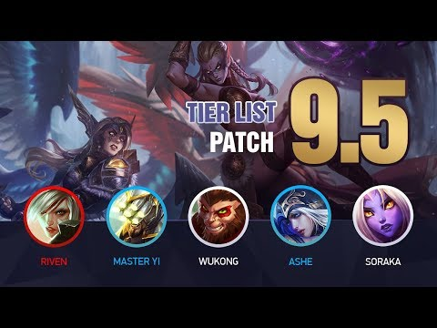 League of Legends Mobalytics Patch 9.5 Tier List: New Kayle and Morgana! thumbnail