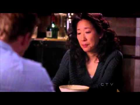 Christina throws a bowl of cereal to Owen - Grey's Anatomy