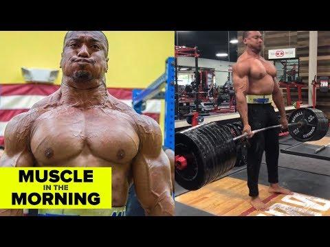 850lb DEADLIFT x LARRY WHEELS! Muscle in the Morning 101718