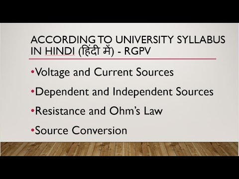 INDEPENDENT AND DEPENDENT SOURCES, OHM'S LAW AND RESISTANCE, SOURCE CONVERSION  LEC-1