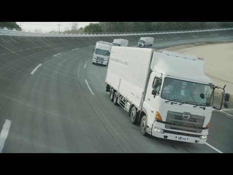 NEDO - Japan Cooperative Adaptive Cruise Control (CACC) Technology Testing [1080p]