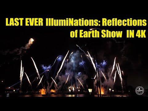 LAST EVER IllumiNations: Reflections Of Earth Show In 4K | EPCOT Walt Disney World 2019