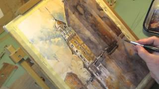 Watercolor Demo | Chattanooga Dome Building | Iain Stewart