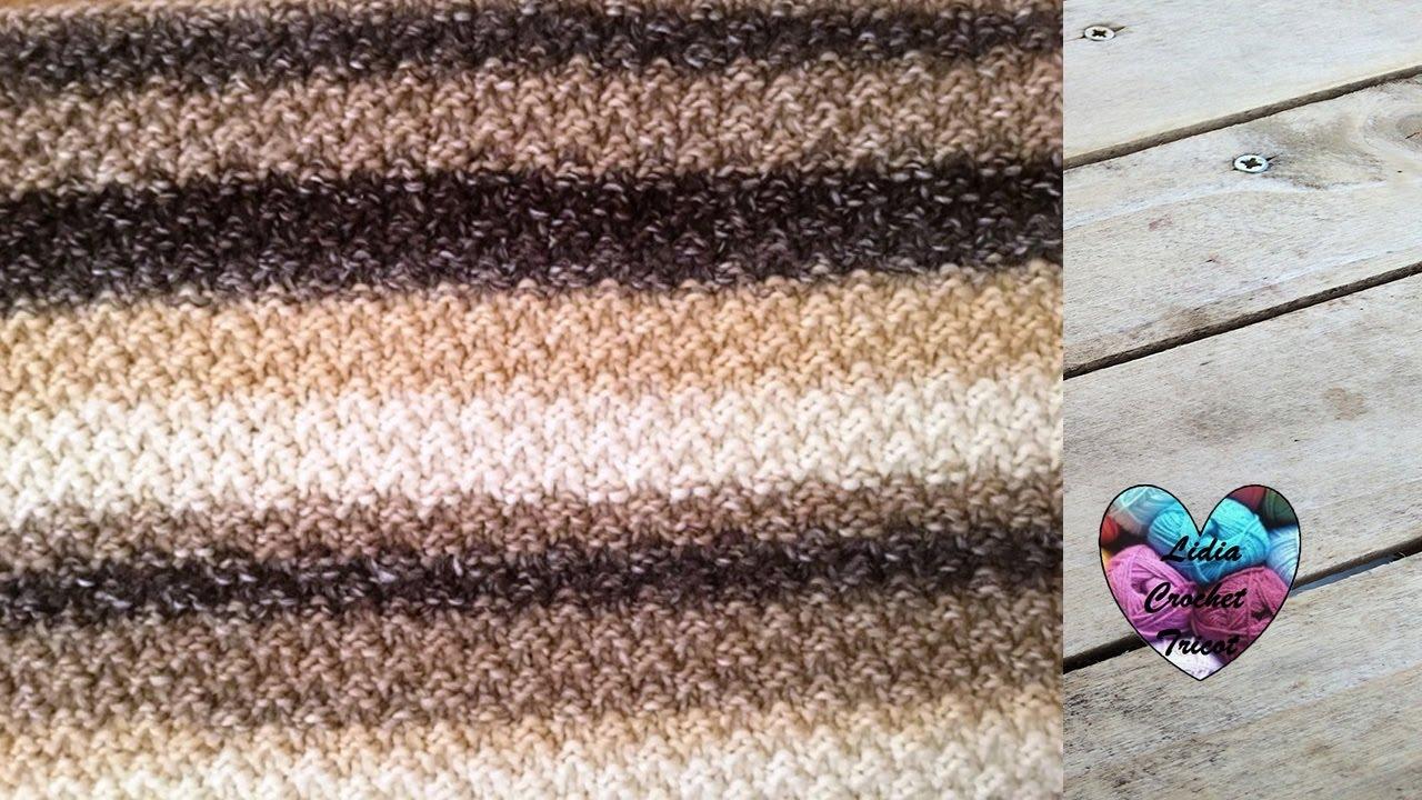 tricot point de riz double dos agujas punto arroz doble youtube. Black Bedroom Furniture Sets. Home Design Ideas