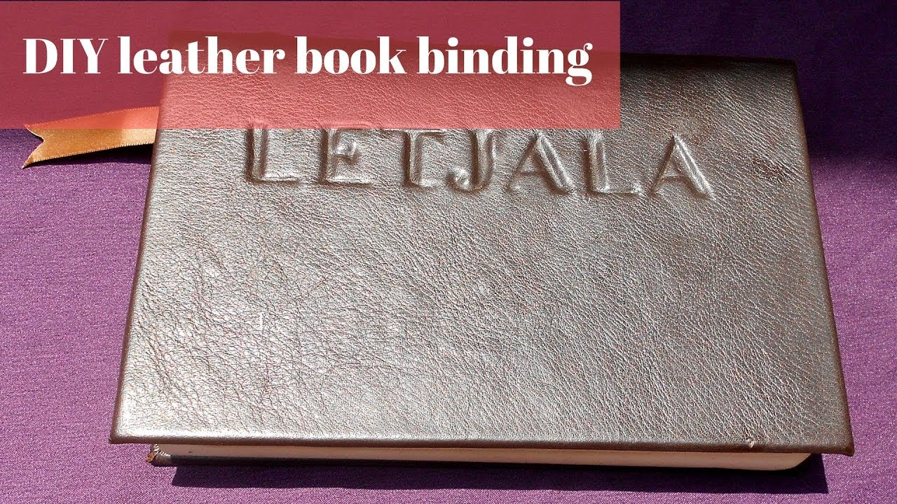 diy hardcover book leather