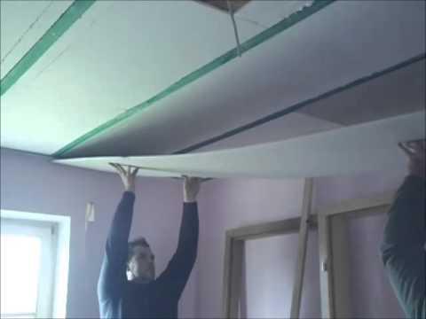 Zimmer Decke mit Styropor und Rigips isolieren Dmmung