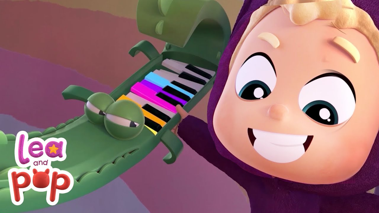 Cocopiano helps Pop to learn colors I Colors for kids I Learn with Lea and Pop