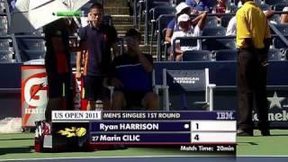US Open 2011   Men's Singles   1st Round   Harrison vs Cilic Part 3